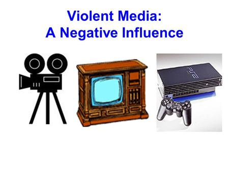 Violent Media: A Negative Influence. Increasing Youth Violence From 1960 to 1991 Violent crime up 500% -Murders up 170% -Rapes up 520% -Aggravated Assaults.