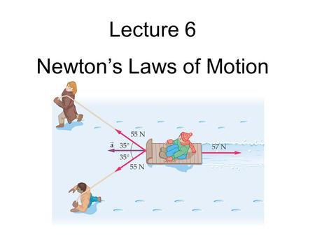 Lecture 6 Newton's Laws of Motion. Exam #1 - next Thursday!  20 multiple-choice problems - No notes allowed; equation sheet provided - A calculator will.