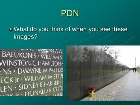 PDN What do you think of when you see these images?