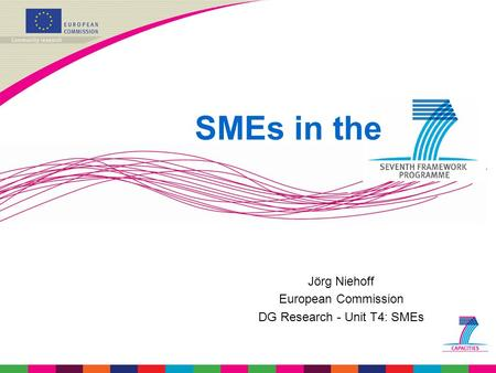Jörg Niehoff European Commission DG Research - Unit T4: SMEs SMEs in the.