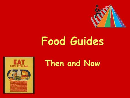 Food Guides Then and Now. When do you think this poster was produced? Why do you think that?