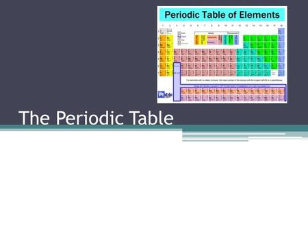 The Periodic Table. The modern periodic table is the result of many years of work by scientists from all corners of the scientific world. Before 1790.