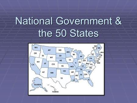 National Government & the 50 States. Nation's obligations to the states A. Guaranteed a Republican Government B. Invasion & Internal Disorder 1.Attack.