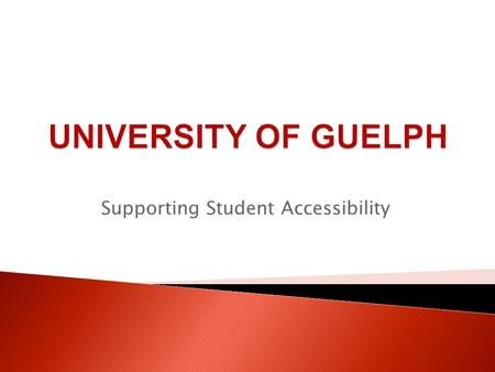 Supporting Student Accessibility. Overview  Cost of Attending  Tuition & Other Costs  Supports to Offset Costs  Government Student Assistance  University.