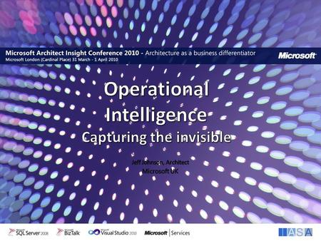 Interoperability. Introductions & Session objectives Operational Intelligence Context Explore some of the parts – CEP – ESB – Cloud Agenda.