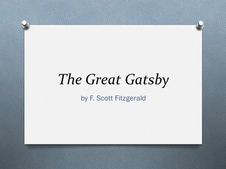 the effects of materialism in the great gatsby by f scott fitzgerald Gatsby' and find homework help for other the great gatsby questions at  enotes  daisy buchanan, from f scott fitzgerald's the great gatsby, is a very  materialistic woman  the beauty of the shirt should not impact her the way it  does.