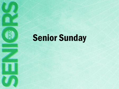 "Senior Sunday. Matthew 6.8-13 8 Do not be like them, for your Father knows what you need before you ask him. 9 Pray then like this: ""Our Father in heaven,"