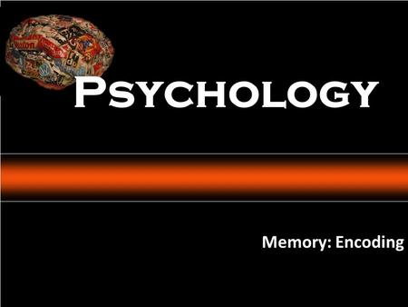Psychology: An Introduction Charles A. Morris & Albert A. Maisto © 2005 Prentice Hall Memory: Encoding Psychology.