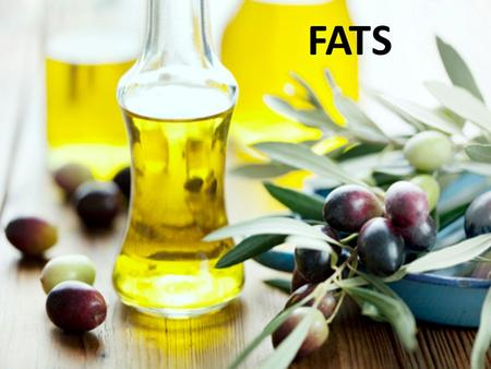 FATS. Functions of Fat Carrier for Vitamins A, D, E and K Reserve supply of energy Adds flavor in food Satisfies hunger Protects internal organs from.