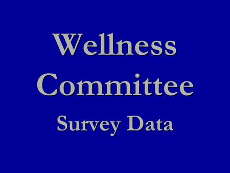 "Wellness Committee Survey Data. What would be your preferred diffuser ""on time""? (How long the essential oil diffused between off times)"