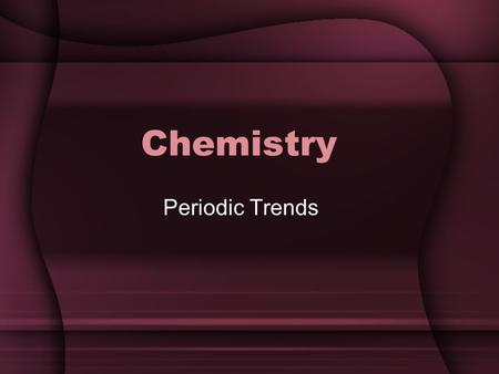 Chemistry Periodic Trends. Section 5 Definitions Atomic Radius Ion Cation Anion Ionization Energy Electronegativity.