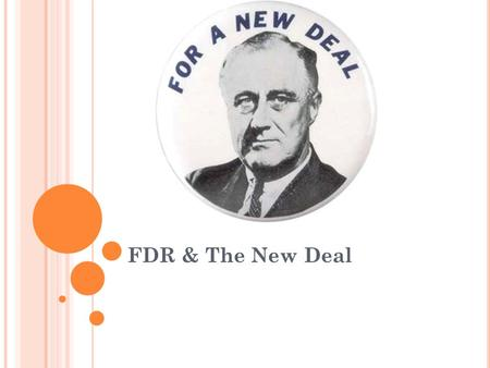 FDR & The New Deal. Objectives Discuss FDR's early political career Explain the worsening situation in the U.S. banking system in the early 1930's List.