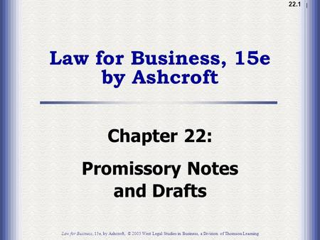 Law for Business, 15e by Ashcroft