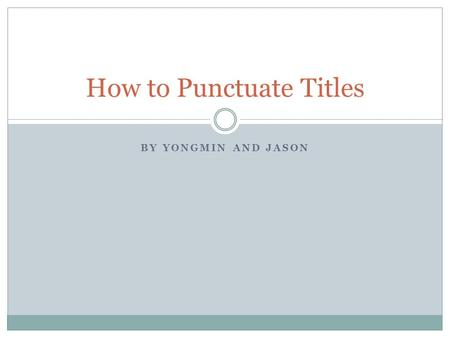 punctuation movie titles essays Rules for using italics and quotation marks in titles quotation marks or italics for titles of shorter works, such as essays that are punctuation go inside.