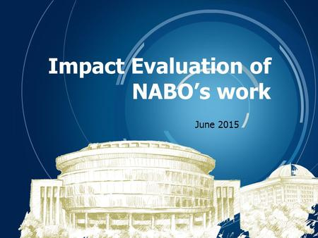 Corporate Identity Impact Evaluation of NABO's work June 2015.