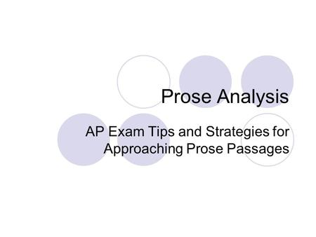 analysis of a prose passage ralph Essay prose tips edit 0 24 0 tags no this reading is simply for general understanding of the passage they don't fall into the how portion of analysis.