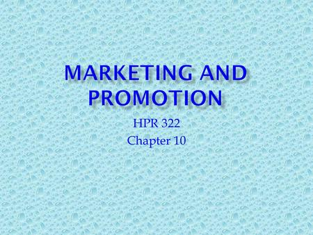 HPR 322 Chapter 10.  Spectator events (sports, concerts, movies)  Special events (fairs, festivals)  Participant events (games, activities)  Ongoing.