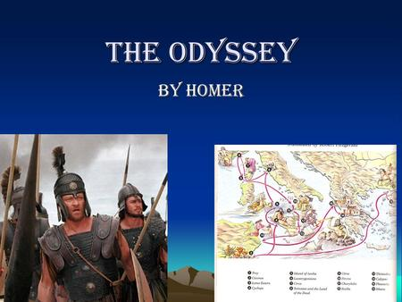 The Odyssey By Homer. Why read The Odyssey? Experience the oldest literary form. Study and analyze the genre of the epic Study and analyze other elements.