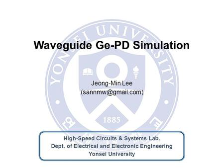 Waveguide Ge-PD Simulation