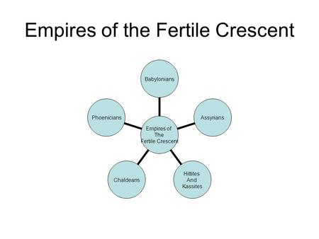 Empires of the Fertile Crescent Empires of The Fertile Crescent BabyloniansAssyrians Hittites And Kassites ChaldeansPhoenicians.
