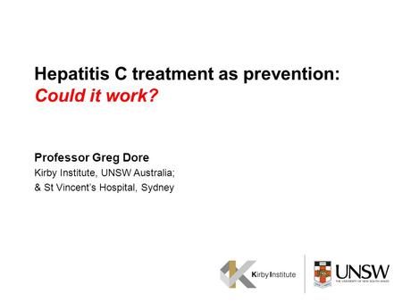 Hepatitis C treatment as prevention: Could it work?