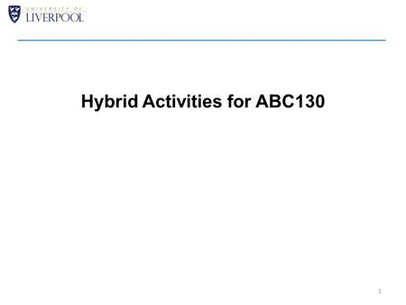 Hybrid Activities for ABC130 1. 2 Aim to freeze thermo-mechanical layout next week in readiness for submission Will make use of a resistive serpentine.