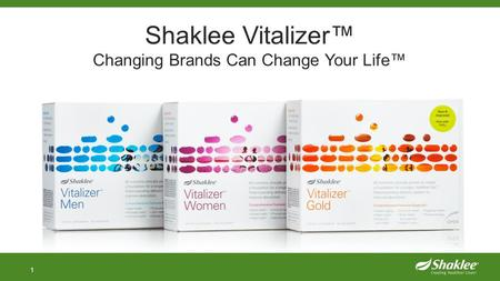 1 Shaklee Vitalizer™ Changing Brands Can Change Your Life™