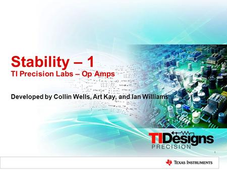 Stability – 1 TI Precision Labs – Op Amps