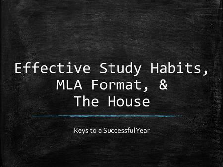 Effective study habits essay