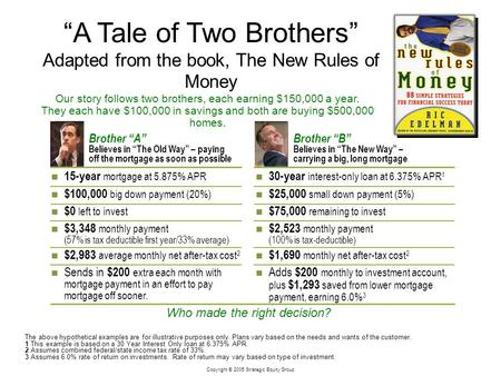 """A Tale of Two Brothers"" Adapted from the book, The New Rules of Money"