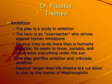 dr faustus as a literary tragic hero english literature essay The best study guide to doctor faustus on the planet, from the creators of   created by the original team behind sparknotes, litcharts are the world's best  literature guides  in-depth summary and analysis of every scene of doctor  faustus  literary period: english renaissance genre: elizabethan tragedy  setting:.