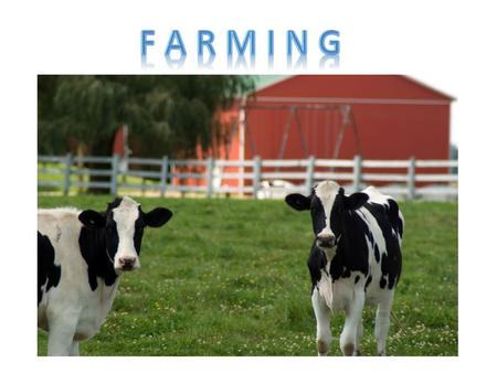 The practice of cultivating the land or raising livestock In a healthy farming system, agriculture works with the natural environment. This begins with.