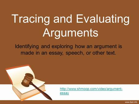 evaluating arguments essays