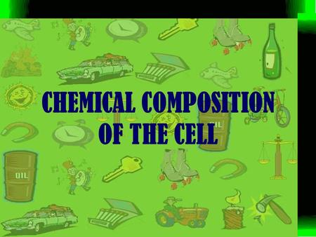 CHEMICAL COMPOSITION OF THE CELL. Chemical composition of cell. As we know that all living bodies are made up of cells and cell contains living matter.