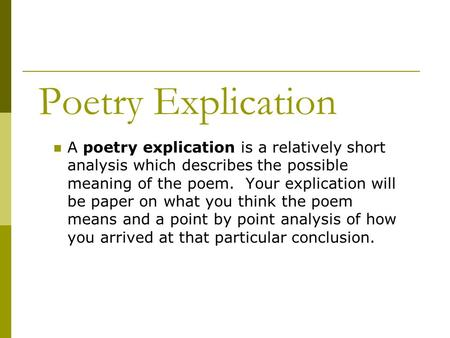 poem analyze essay