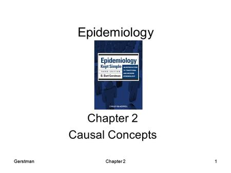 Chapter 2: General Concepts Chapter 2 Causal Concepts