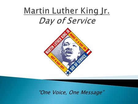 """One Voice, One Message"".  In the last year of his life, Martin Luther King, Jr. and the Southern Christian Leadership Conference organized the Poor."