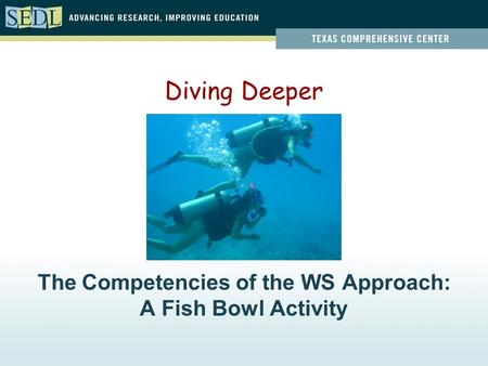 The Competencies of the WS Approach: A Fish Bowl Activity Diving Deeper.