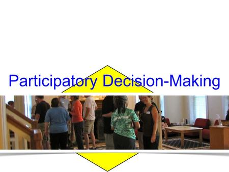 Convergent thinking Participatory Decision-Making.