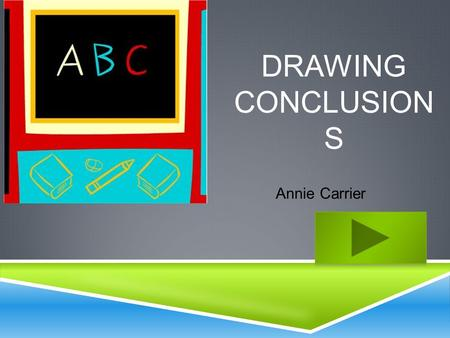 DRAWING CONCLUSION S Annie Carrier.  Content Area: English/ Language Arts  Grade Level: 3 rd Grade  Summary: The purpose of this instructional PowerPoint.