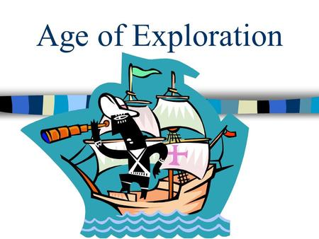 Age of Exploration. Motivation Motivation: Why did the explorers want to go? GOLD, GLORY, GOD.