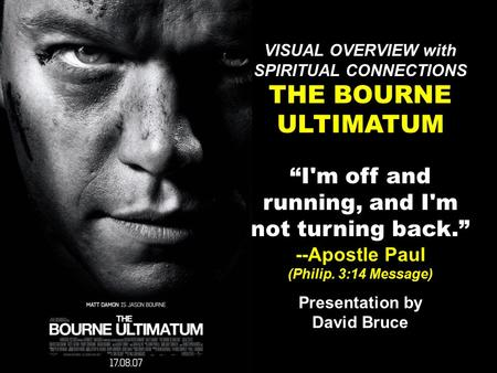 All he wanted was to disappear. Instead, Jason Bourne is now hunted by the people who made him what he is. Having lost his memory and the one person he.