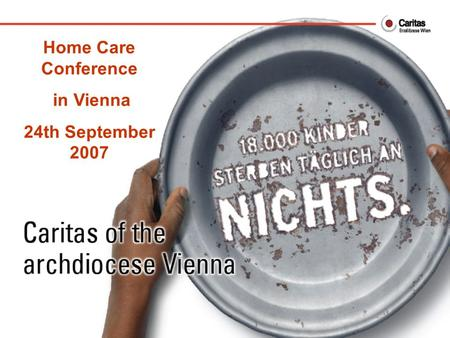 Home Care Conference in Vienna 24th September 2007.