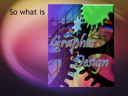 So what is Graphic Design is….. Type-based design.
