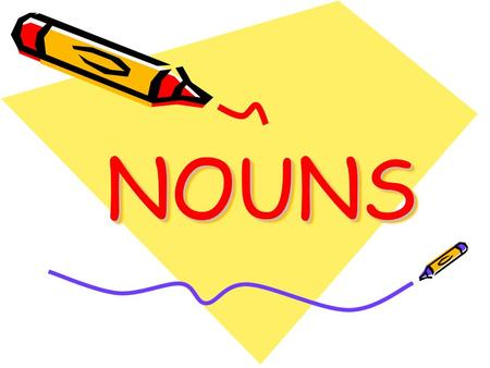 NOUNSNOUNS. A noun is a word that names a person, place, thing or idea.