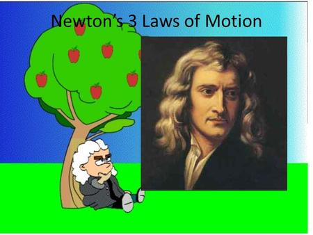 Newton's 3 Laws of Motion. Newton's 1 st Law of Motion (Law of Inertia) An object at rest or in motion will stay at rest or in motion unless acted upon.