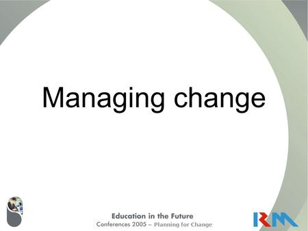 Planning for Change Managing change. Planning for Change VisionSkillsIncentivesResources Action Plan Change= Adapted from Knoster, T. (1991) Presentation.