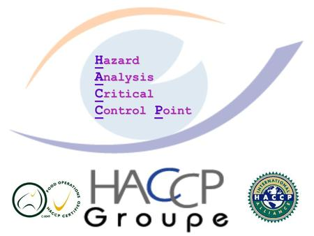 H azard A nalysis C ritical C ontrol P oint. HACCP : A systematic approach to the identification, evaluation, and control of food safety hazards. Hazard.