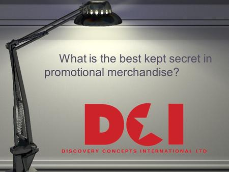 What is the best kept secret in promotional merchandise?