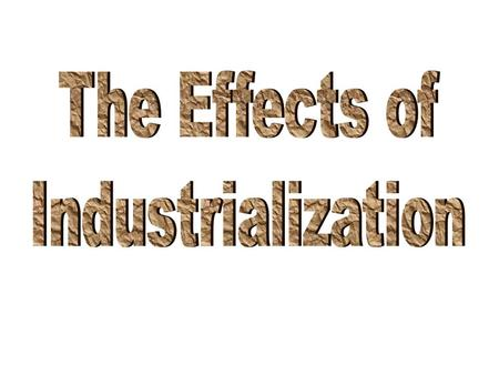 --An attempt to fix the negative effects of industrialization.